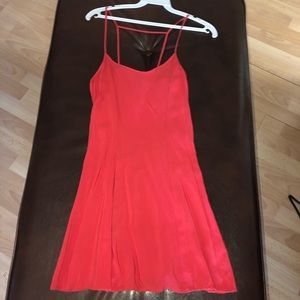 HM coral flare dress 2